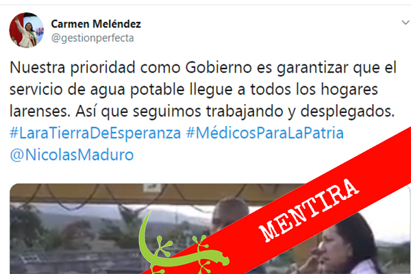 Carmen Meléndez: Nuestra prioridad es garantizar el servicio de agua potable en todos los hogares larenses