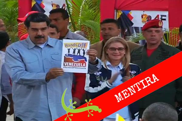 """#Cotejado Maduro: """"No hay crisis humanitaria en Venezuela"""""""