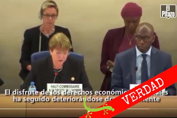 Bachelet: 7 verdades sobre Venezuela retumban en Naciones Unidas #Cotejado