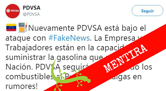 Escasez de gasolina es una noticia falsa (fake news) #Cotejado
