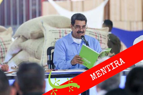"""Maduro: """"La mitad del café que exporta Colombia es venezolano"""" #Cotejado?"""