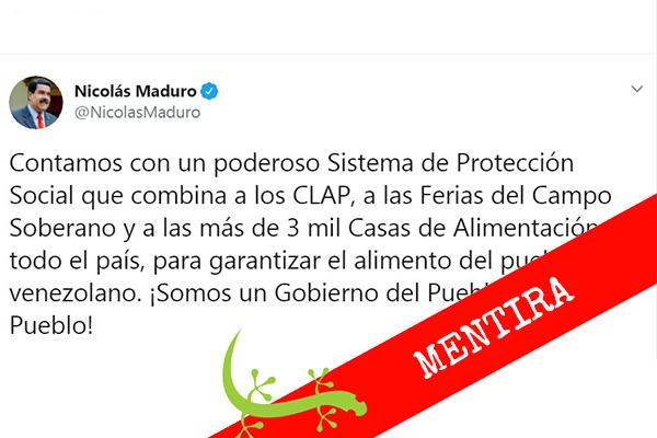 Maduro asegura garantizar el alimento del pueblo venezolano