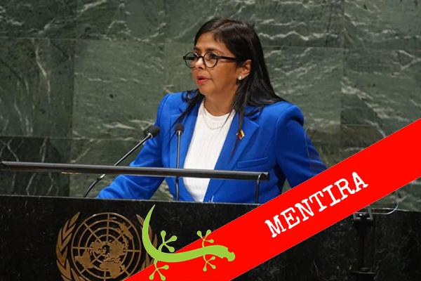 Delcy Rodríguez adjudica a las sanciones falta de medicinas en Venezuela