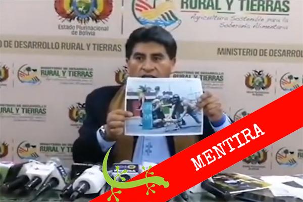 Ministro de Evo Morales muestra fotografía de Venezuela para mentir sobre crisis de Bolivia