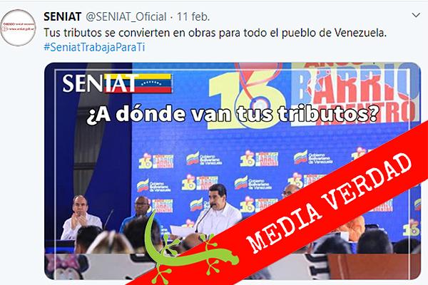 """Los tributos del Seniat """"se convierten en obras para todo el pueblo de Venezuela"""""""