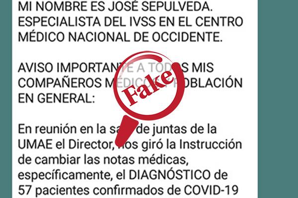 Médico del IVSS denunció orden de cambiar diagnósticos de COVID-19