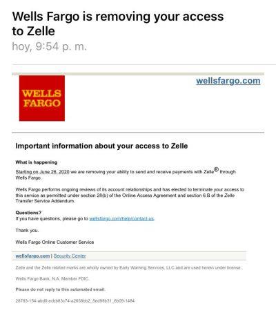 Correo enviado por Wells Fargo