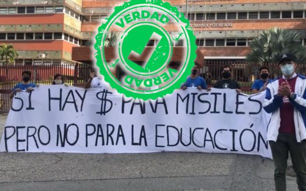 """FCU-UCV: """"Prefieren gastar en misiles que en nuestra educación"""""""
