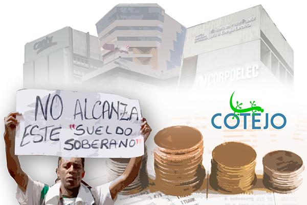 Salario del sector público en Venezuela cayó 99 % en ocho años