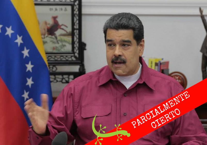 """#Cotejado Nicolás Maduro: """"Mi mamá iba a cobrar su pensión, que era 20% del salario"""""""